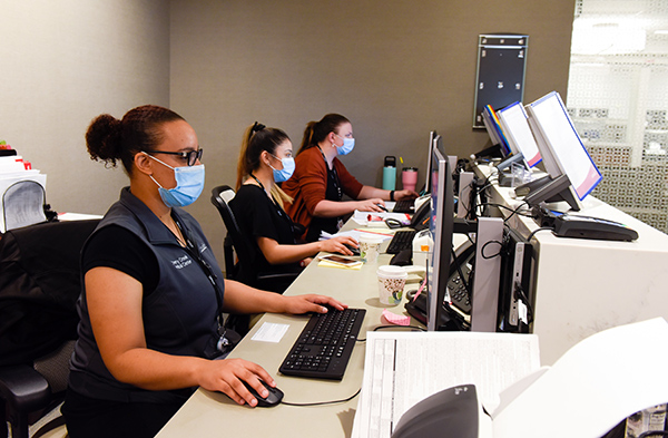 exceptional cancer care Cherry Creek. Receptionists at the Breast Center at the Cherry Creek Medical Center