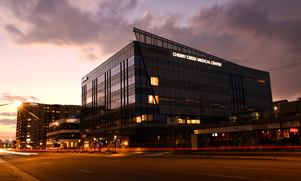 new medical center Cherry Creek - Building photo at sunset