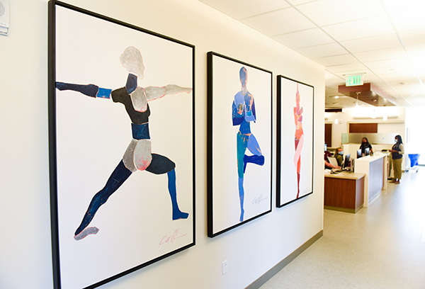 new medical center Cherry Creek - colorful yoga art