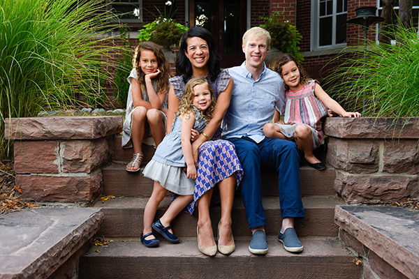new medical center Cherry Creek. Dr. Nina Casanova, a urologist at Cherry Crerek with her husband and three daughters.