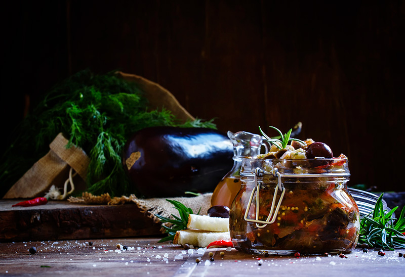 Sicilian caponata vegetarian recipe