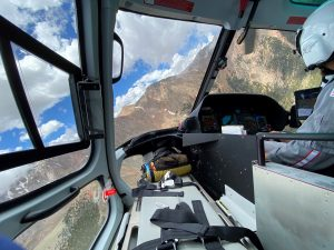a birds-eye view while preparing for the 2020 The Broadmoor Pikes Peak International Hill Climb.