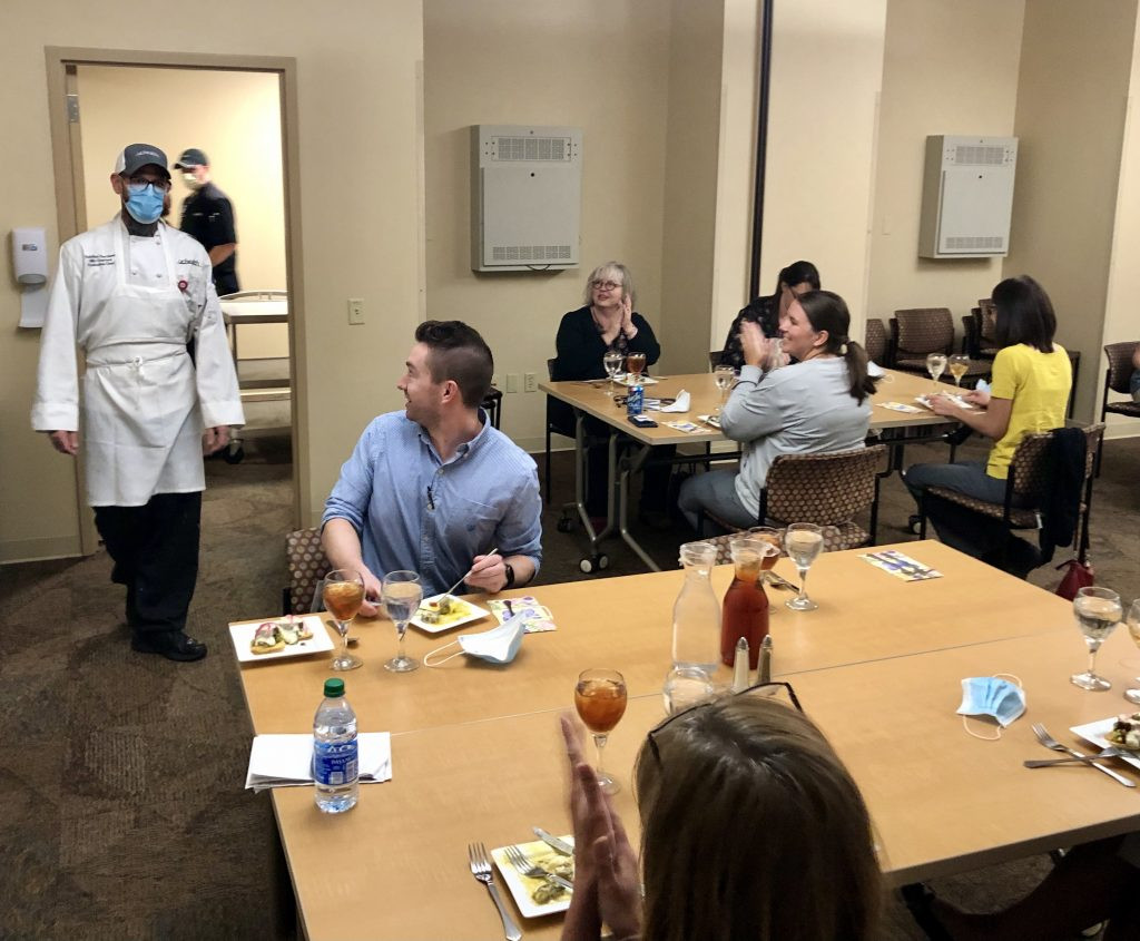 Hospitalists applaud Executive Chef Charters at lunch event