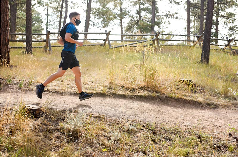 Matt Johnston took up running to stay healthy after learning he had been born with a heart defect. To stay fit during the pandemic, he has taken up trail running.