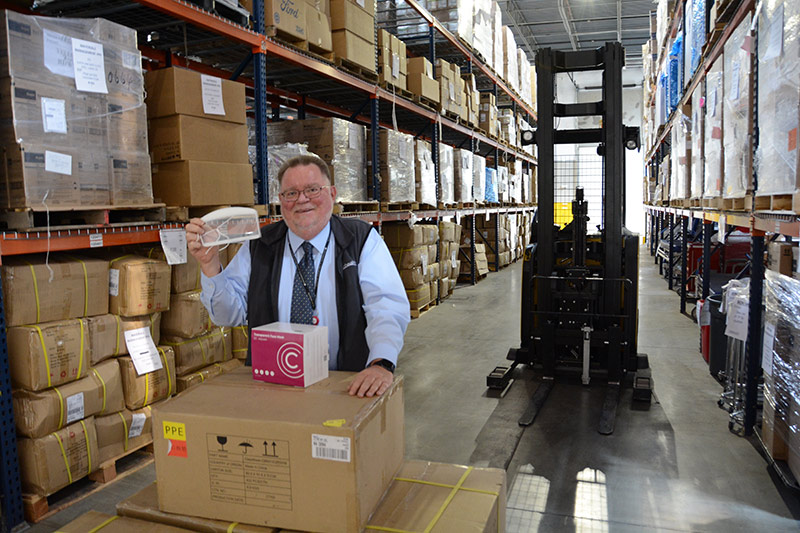 Glenn Schmidt helped keep supplies in stock for UCHealth's 12 hospitals