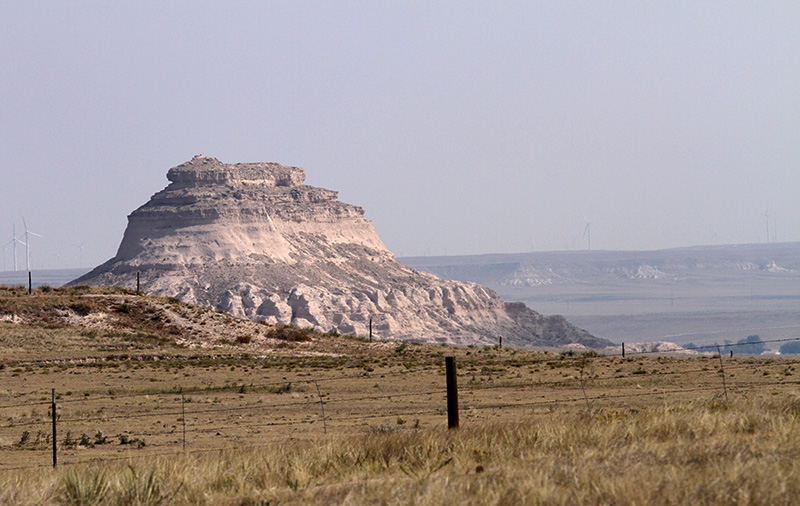 A butte at the Pawnee National Grassland.