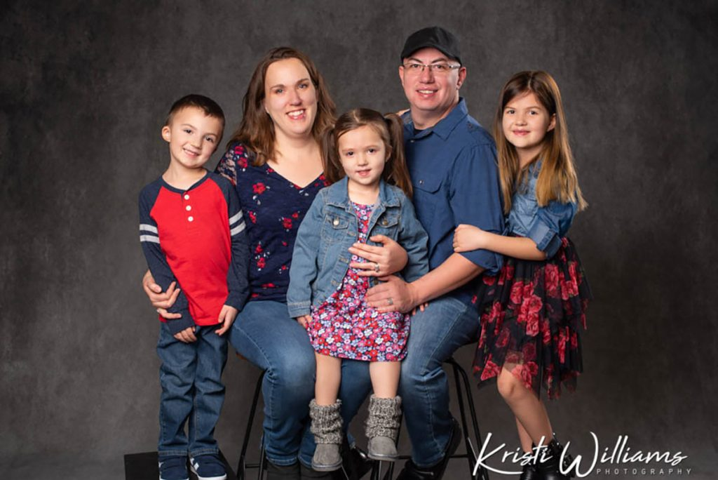 Abby Zamora, husband Steven and their three children, all had a certified nurse midwive birth at UCHealth.