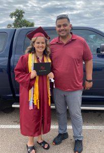 Edgar at his daughters recent high school graduation.