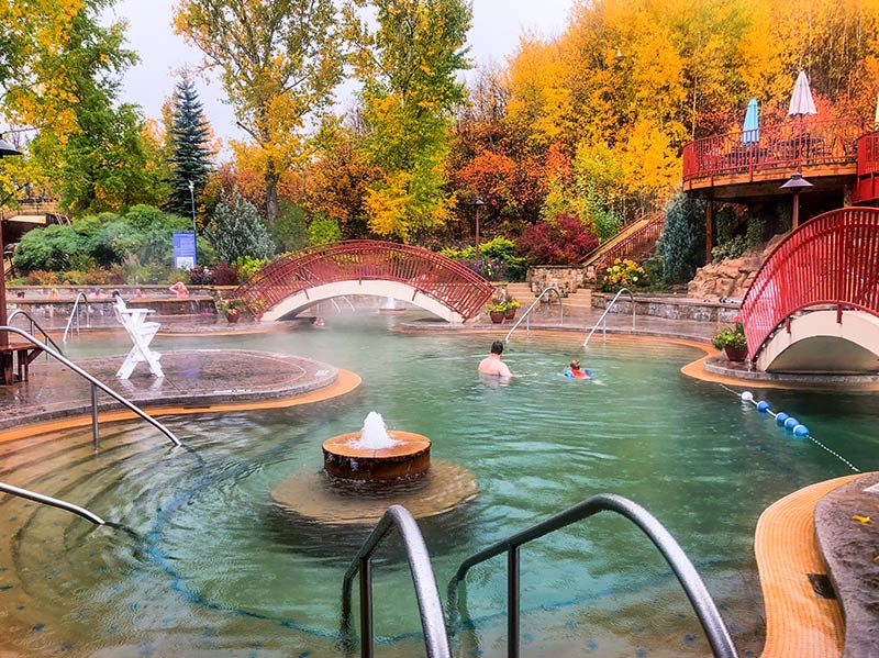 Among Colorado hot springs, Steamboat's Old Town Hot Springs is one of the most popular.