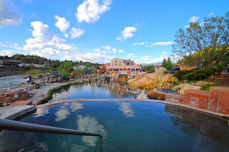 The Springs Resort in Pagosa Springs is one of several Colorado hot springs.