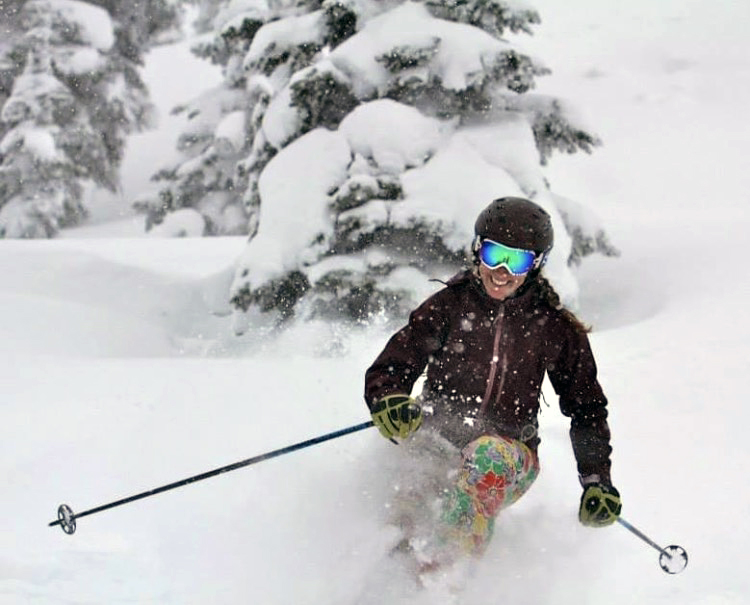 A doctor skis in Steamboat powder, and said it is safe to ski during COVID-19..