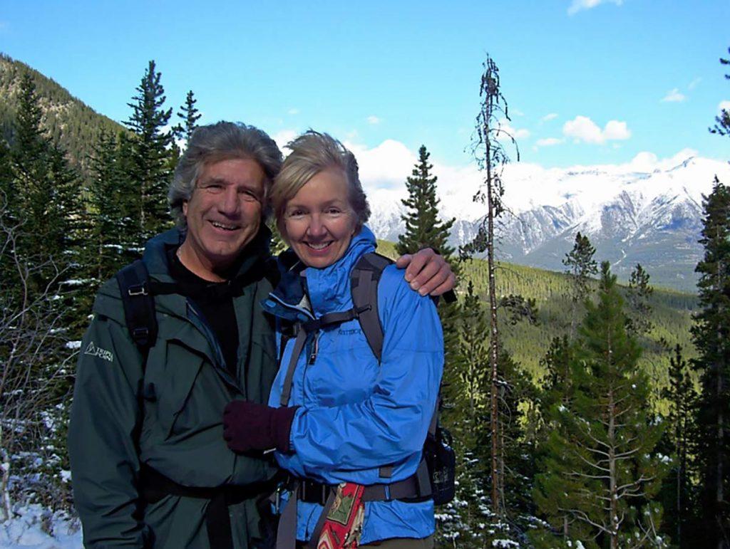 Debbie Bunten with her husband