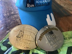 This is a photo of race medals.