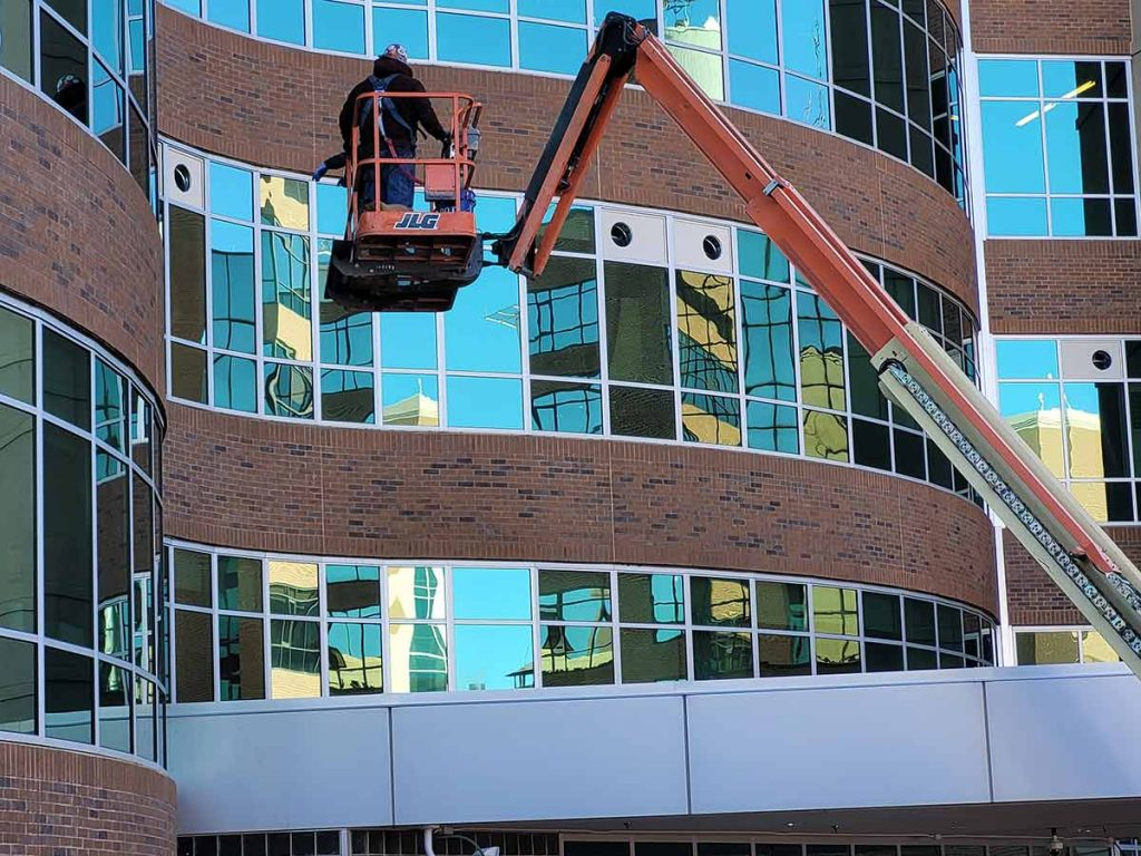 Facilities workers at UCHealth Memorial Hospital prepare for more COVID-19 patients.