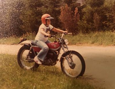 Dr. Richard Zane loved riding motorcycles as a boy.