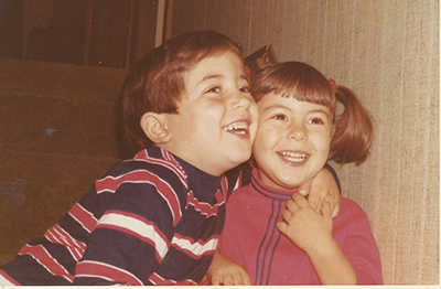 Dr. Richard Zane is confident that COVID-19 vaccines are safe. Here, he poses with his sister, Daniela, when the two were kids.