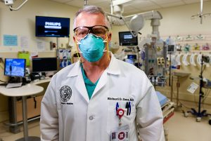 Dr. Richard Zane is confident that vaccines for COVID-19 are safe. Here he poses in an Emergency Department which he transformed.