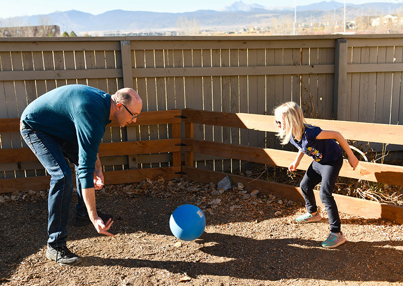 DBS for Parkinson's has made it possible for Mike Whitt to play a game called Gaga Ball with his daughter.