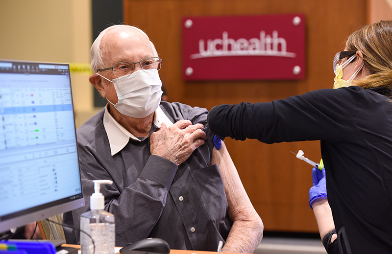 older adults start receiving their coronavirus vaccines. George Summers receives his vaccine