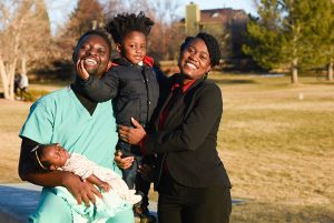 Vaccines and Black people. Kweku and Cynthia Hazel with their 2-year-old son and their infant daughter, who was born in October.