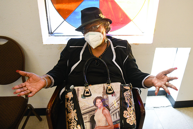 Ruby Carter received her vaccine at Colorado's oldest Black church, Shorter AME.