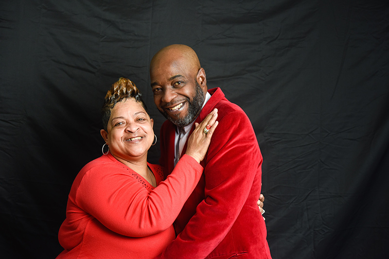 Michael Peoples with his wife, Shelia.
