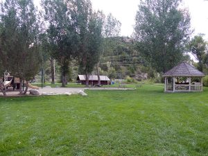 Little Toots Park in Steamboat Springs features a playground, swings and a gazebo.