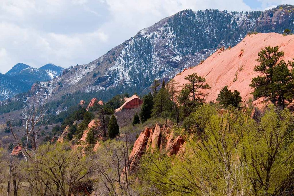 A photo of red rocks in Red Rock Canyon Open Space, a park in Colorado Springs..