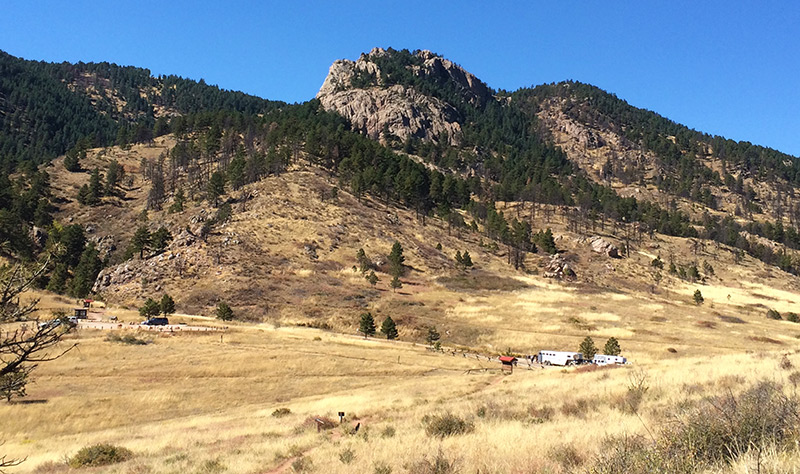 A view of Arthur's Rock from Lory State Park in Colorado.