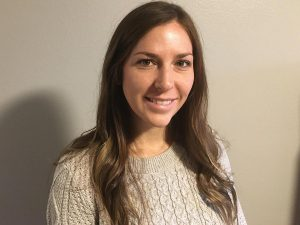 """Kelly Hannon, a second year nurse practitioner student, makes regular calls to her older adult """"partner"""" as part of the COAST-IT program. Photo courtesy of Kelly Hannon."""