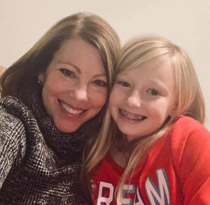 Amy Sullivan with daughter Sienna, who after pregnancy saw a return of many lupus symptoms.
