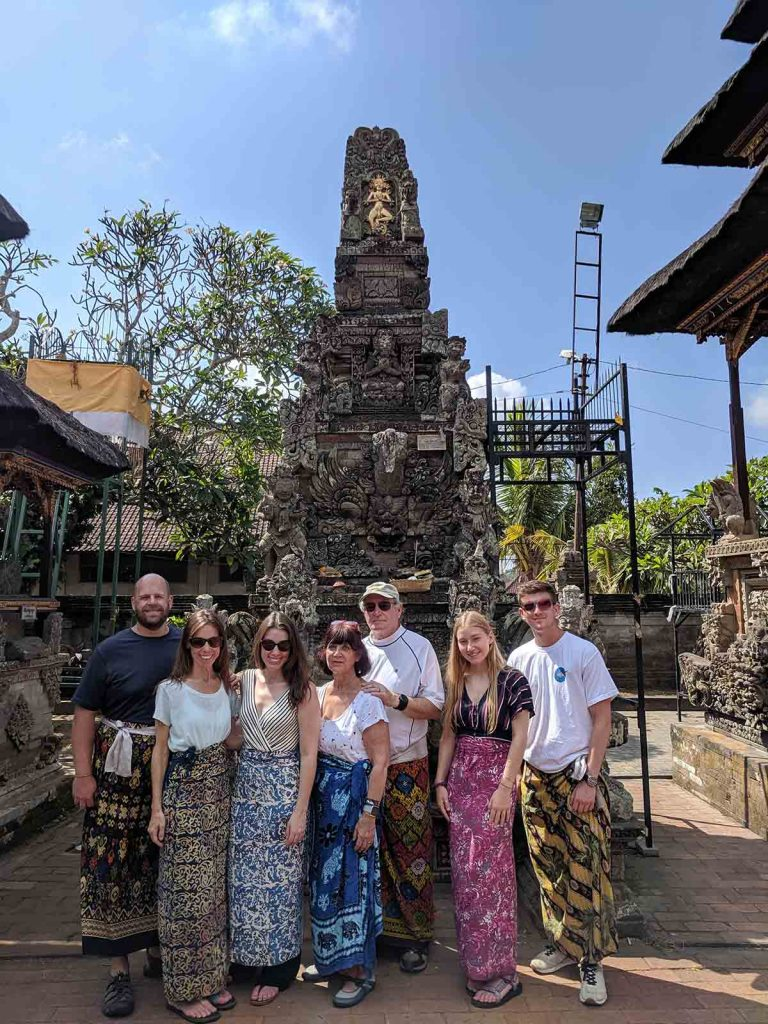 Kelly Brassette with her family in Bali. After her first child, he doctor told her he found precancerous cells but she ignored him.