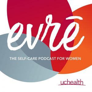 New evre women's health podcast graphic.