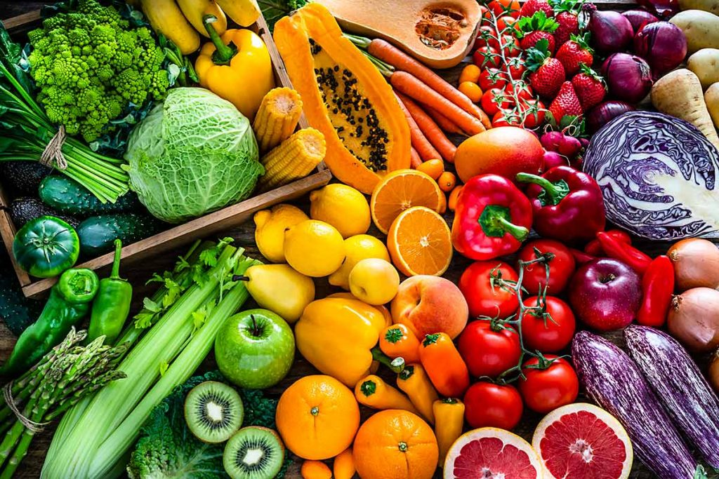 Good nutrition, like this colorful picture of fruits and vegetables, does not guarantee protection against COVID-19, but it can help to reduce your risk by supporting your immune system