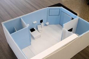 model of a ICU room by students at the Innovation Center of St. Vrain Valley Schools.