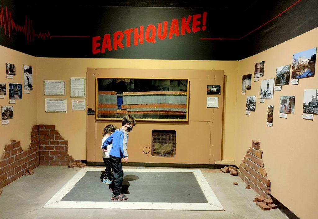 Kids enjoy the Dinosaur Journey Museum in Fruita, Colorado.