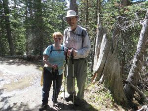 Dennis Mullen and wife Nancy enjoy a day at Dream Lake in Rocky Mountain National Park. Mullen was diagnosed with Parkinson's disease in 2010. Photo courtesy of Dennis Mullen.