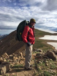 """Preusser on one of his planned """"adventures,"""" this one on the Continental Divide Trail near Winter Park. Photo courtesy of Mel Preusser."""