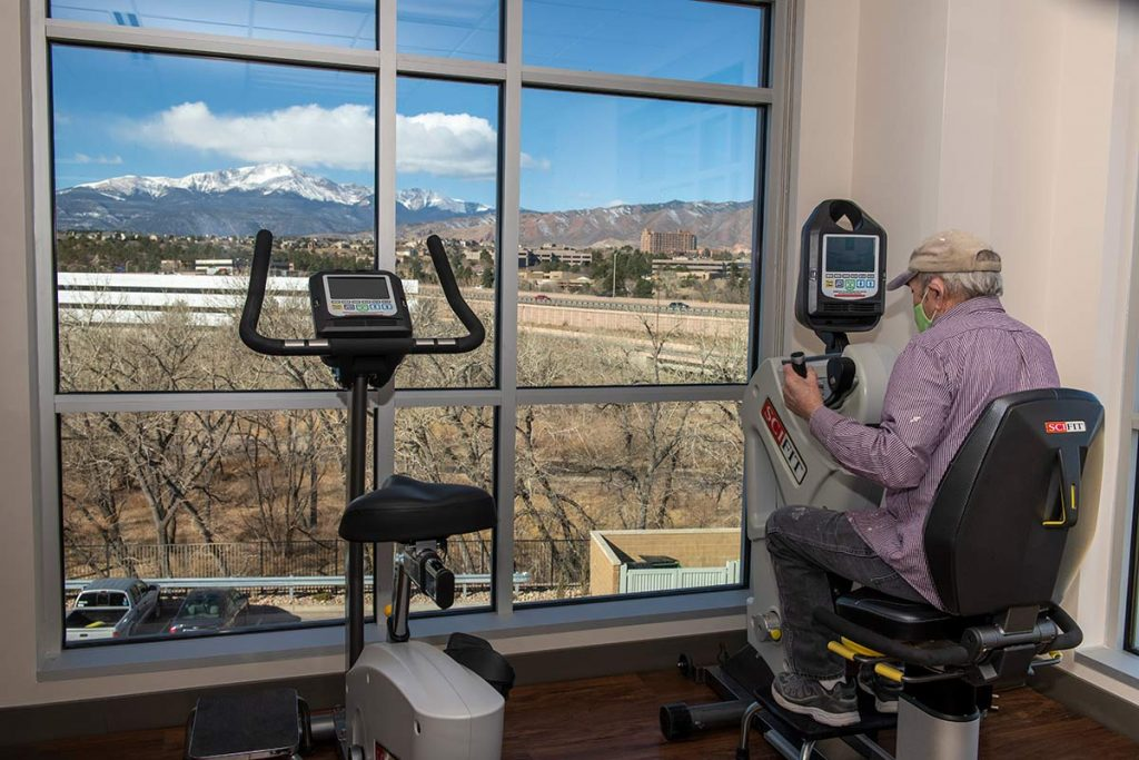 The views of Pikes Peak from the Grandview Medical Center offer patients a breathtaking view of the mountains.