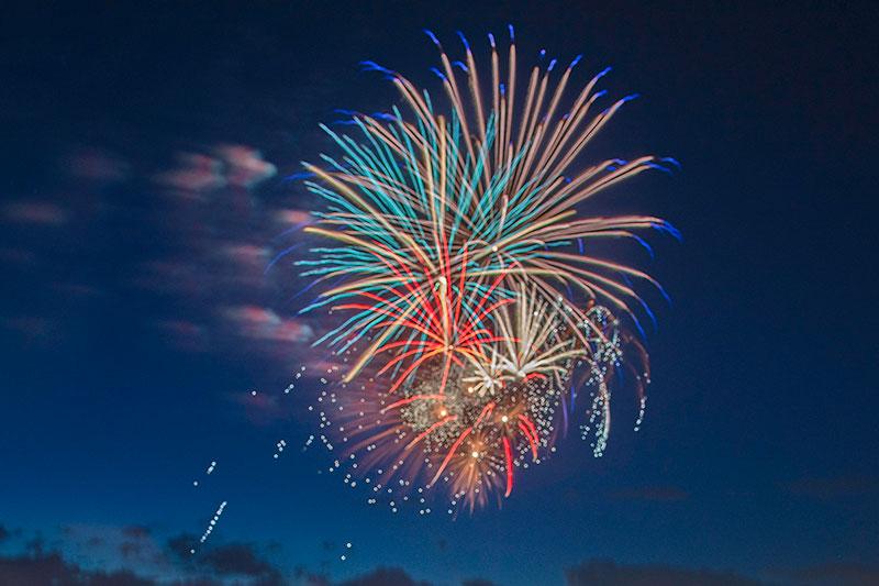 fireworks display in Colorado.