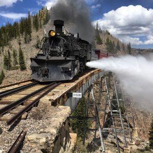 scenic train ride on The Cumbres & Toltec Scenic Railroad in Colorado.