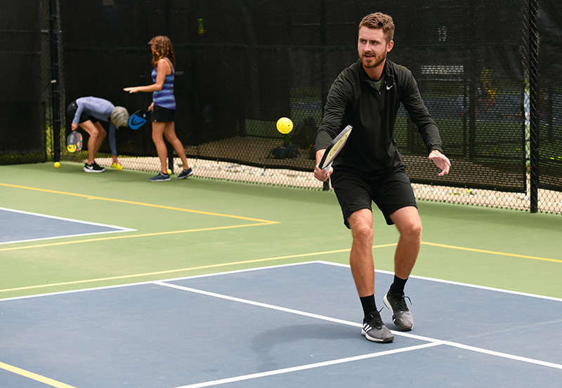 What is pickleball? Tanner Vann is a pro at Gates Tennis Center and plays on the professional pickleball circuit.