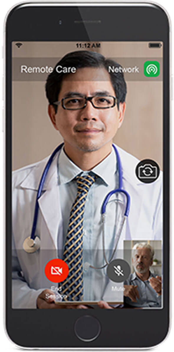 Remote DBS-programming telehealth from the patient's perspective. Image courtesy of Abbott.