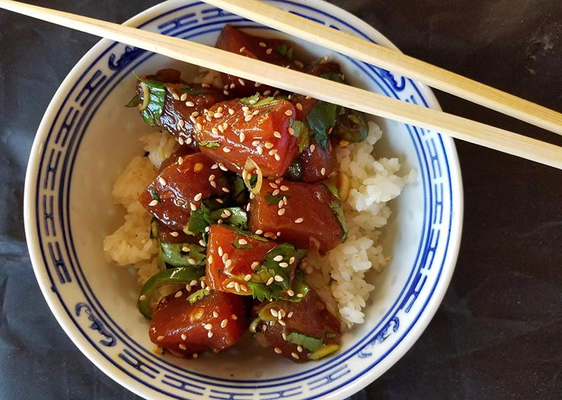 Making poke at home is easy and delicious