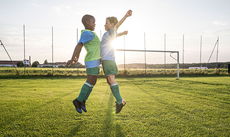 young soccer players, like these two, need healthy snacks to maintain energy levels.