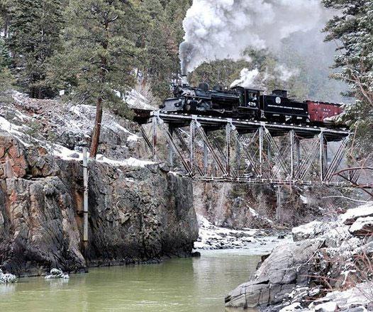 Durango and Silverton Narrow Gauge Railroad is one of Colorado's scenic train rides.