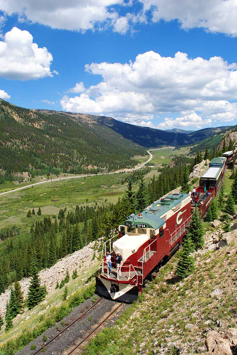 Leadville, Colorado & Southern Railroad is one of the great scenic train rides in Colorado.