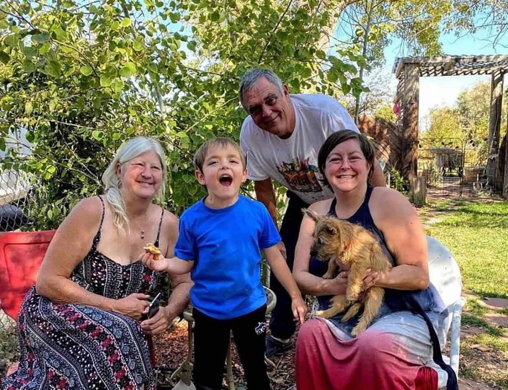 Nicole Rutledge, far right, with mom Cindi, dad Kevin and son Rowan. Photo courtesy of Nicole Rutledge.