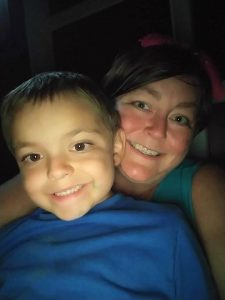 Nicole with Rowan, now 7 years old. Photo courtesy of Nicole Rutledge.