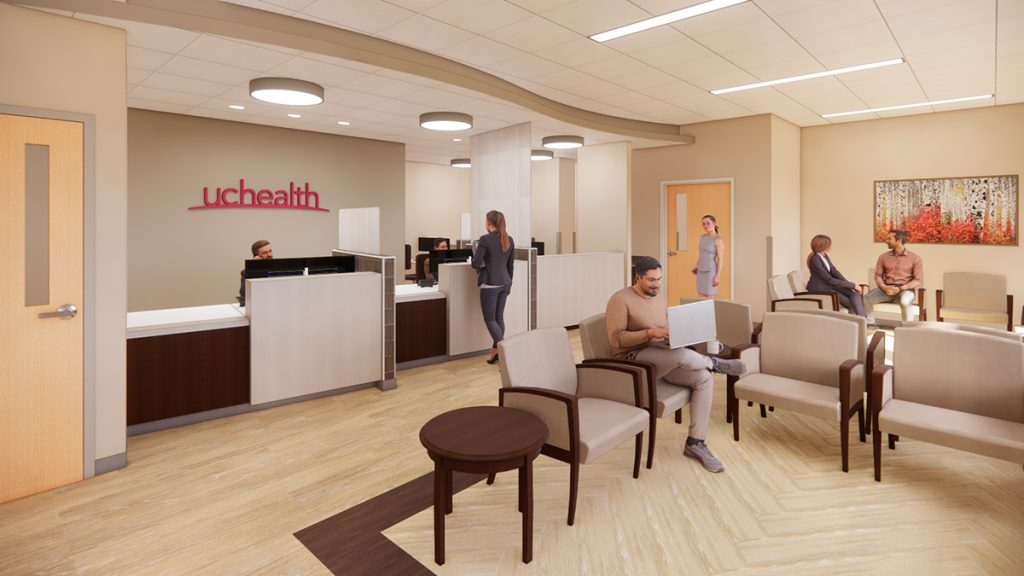 This is a rendering of a new clinic space at UCHealth Yampa Valley Medical Center.